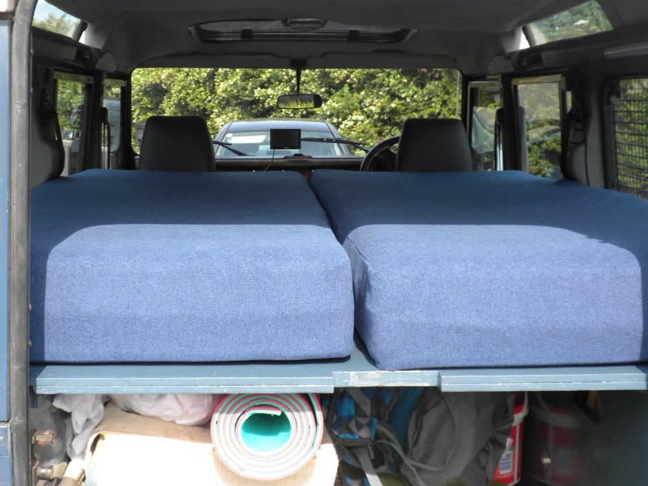 Custom made mattresses on sleeping platform