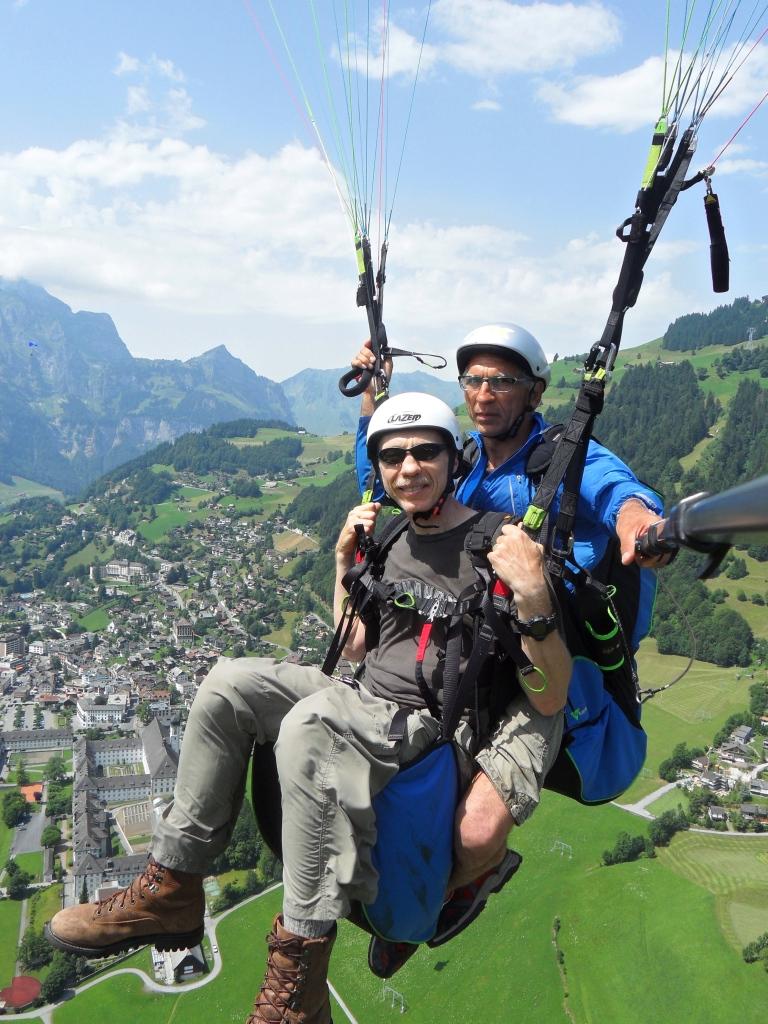Craig paragliding in Switzerland