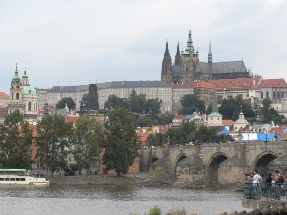 The Charles Bridge and buildings on the west bank of the river