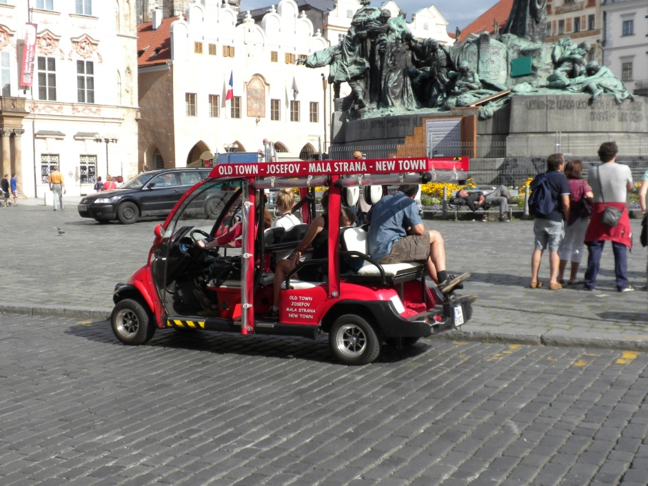 Modified golf-carts for sightseeing