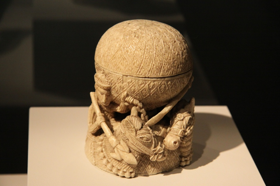 Intricate 16th century container carved in ivory