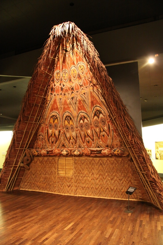 Part of a large Culture Hut on display
