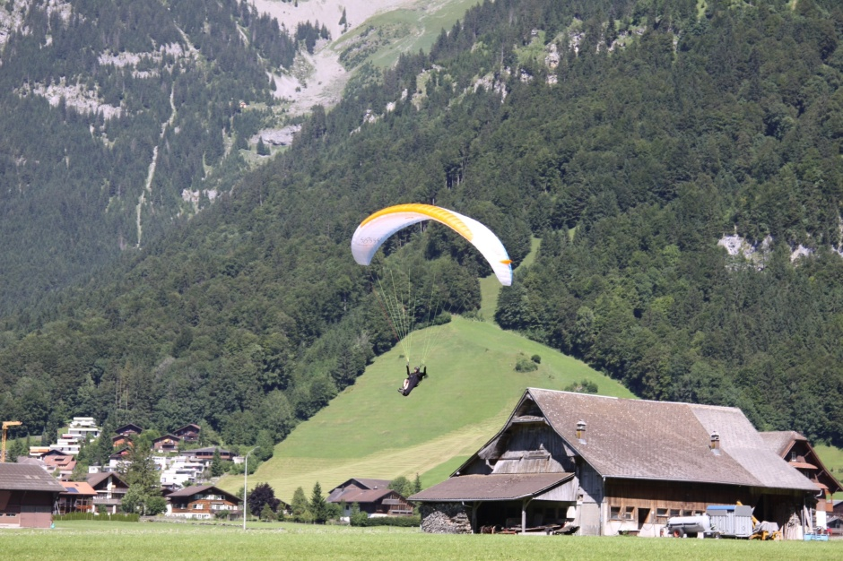 Coming in to land at Engelberg today