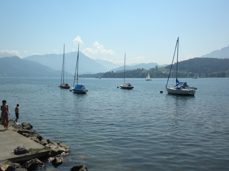 Lake Luzern, where we stopped for a picnic lunch