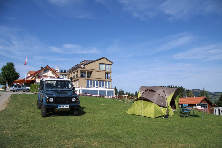 Our tent on the right with the hotel, restaurant, reception building behind