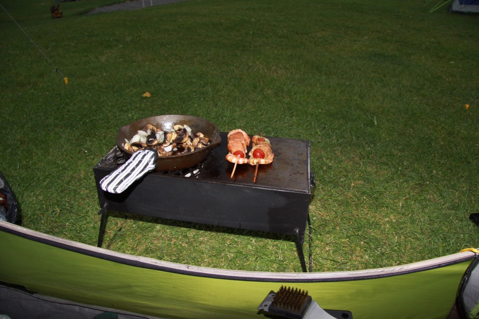 The Bush Pig braai, just outside the tent during the storm