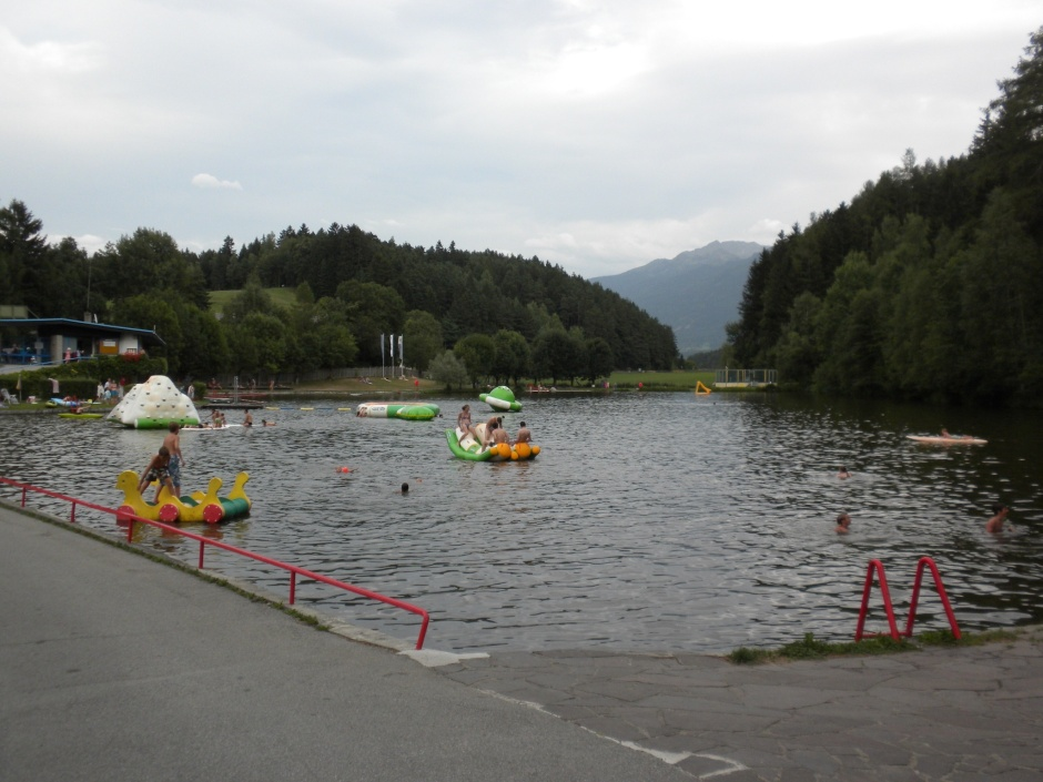 Swimming lake at the campsite