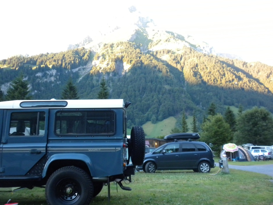 Mount Titlis watching over my Defender