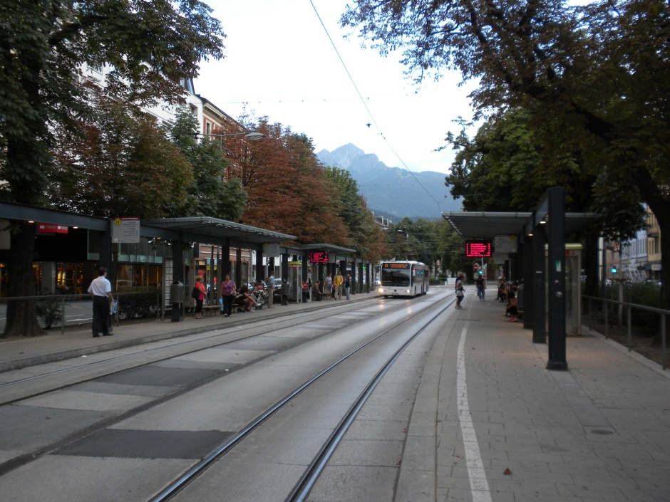 Tram/bus station in Innsbruck