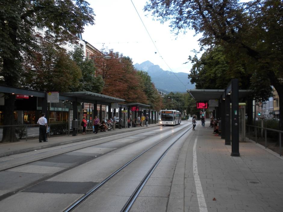 Tram/bus station in Innsbruck