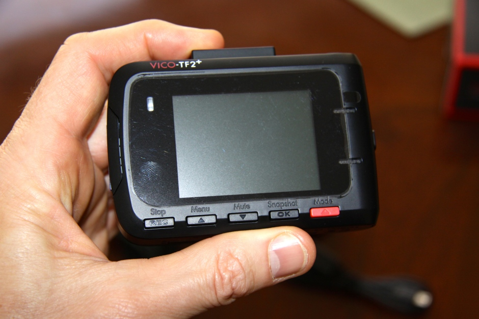 Rear of the camera showing the viewing screen