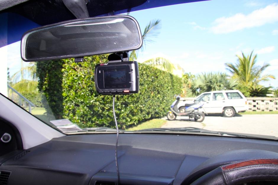 The camera mounted in my Hyundai Getz