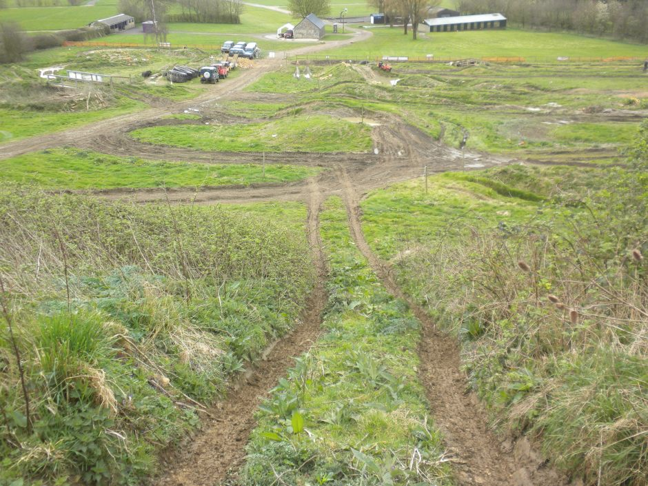 The hill climb from the top. Had to do a failed hill start from near the top and go back down in reverse!