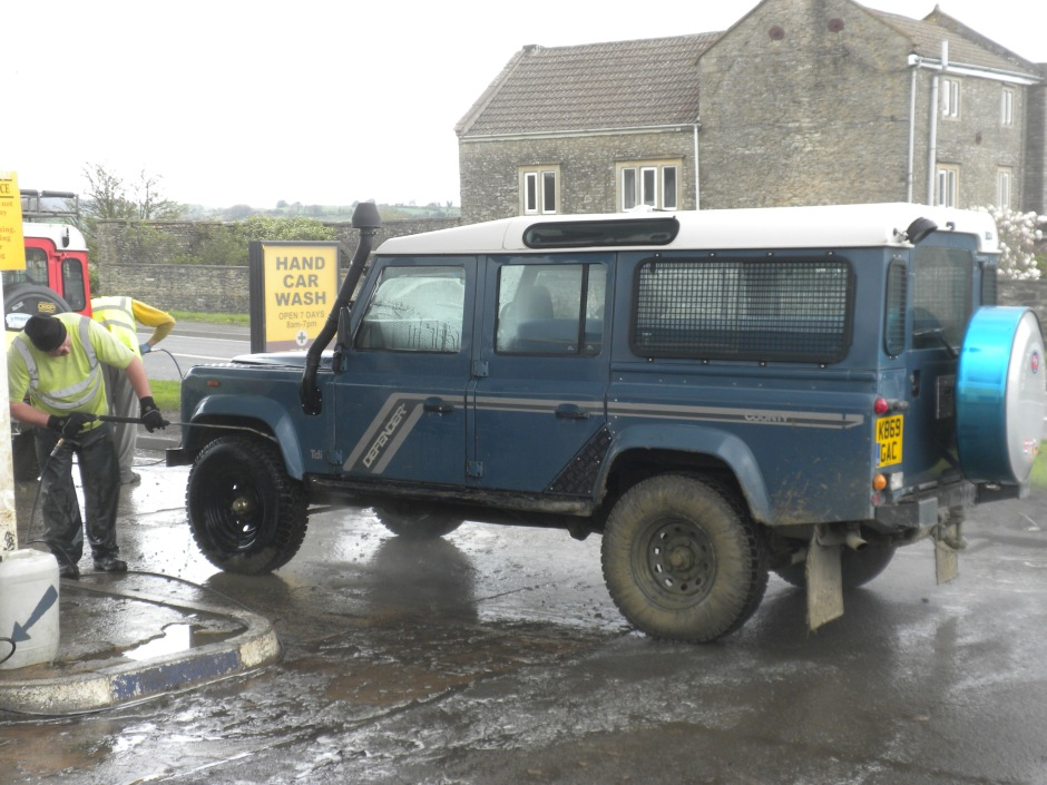 Final stop - the car wash to get rid of all the mud