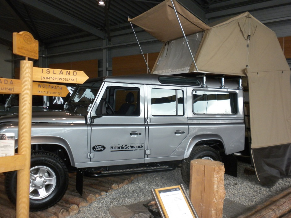 Expedition Defender in the showroom