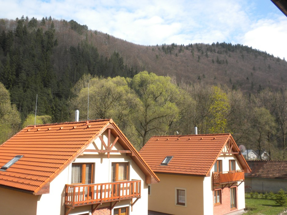 View from the balcony of our room in the pension