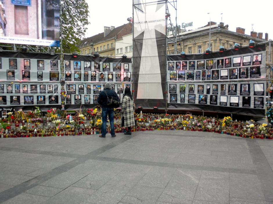 Memorial for those who lost their lives in the February disturbances