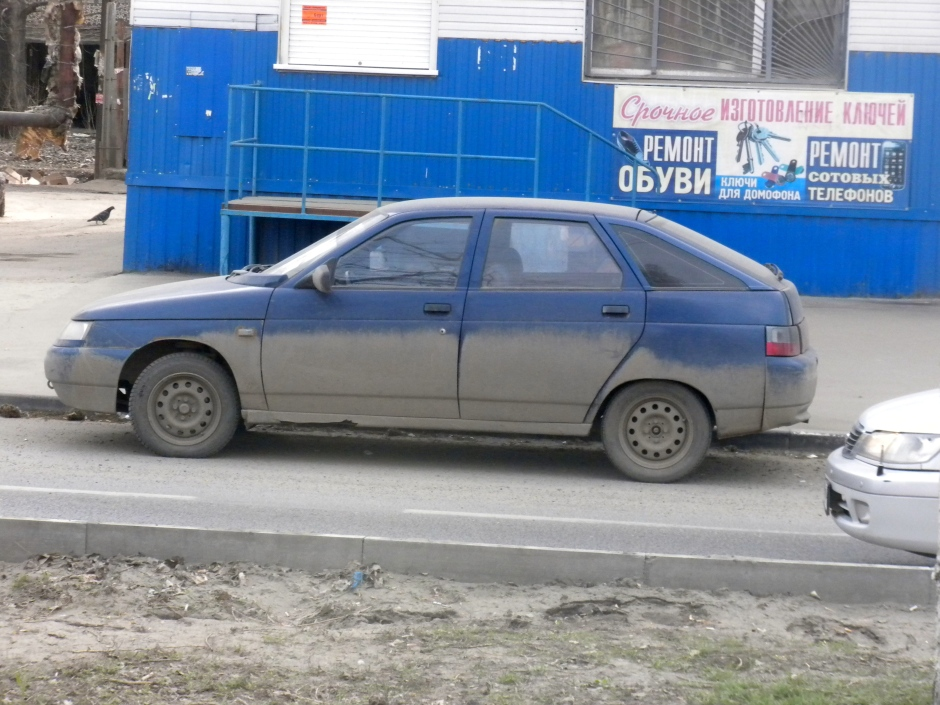 Many cars in Saratov look like this due to the dust