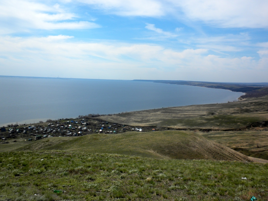 Looking down on the Volga River