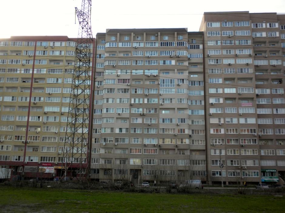 Soviet style apartment buildings in Samara
