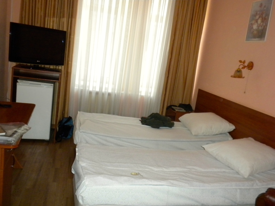 Hotel beds in Samara -  the best of the three Russian hotels so far
