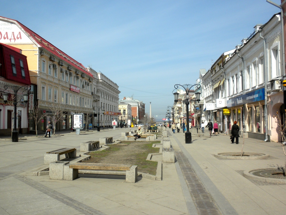 Pedestrianised shopping area near to the hotel