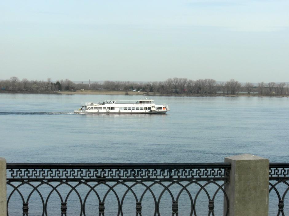 Boat on the Volga