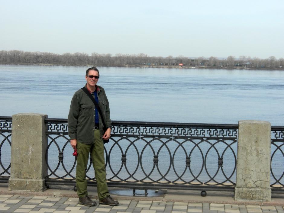 Klaus overlooking the Volga