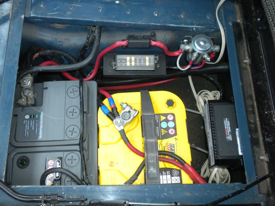 The new battery installed next to the Optima Yellow Top