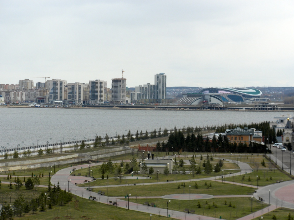 Part of the city, as seen from the Kremlin