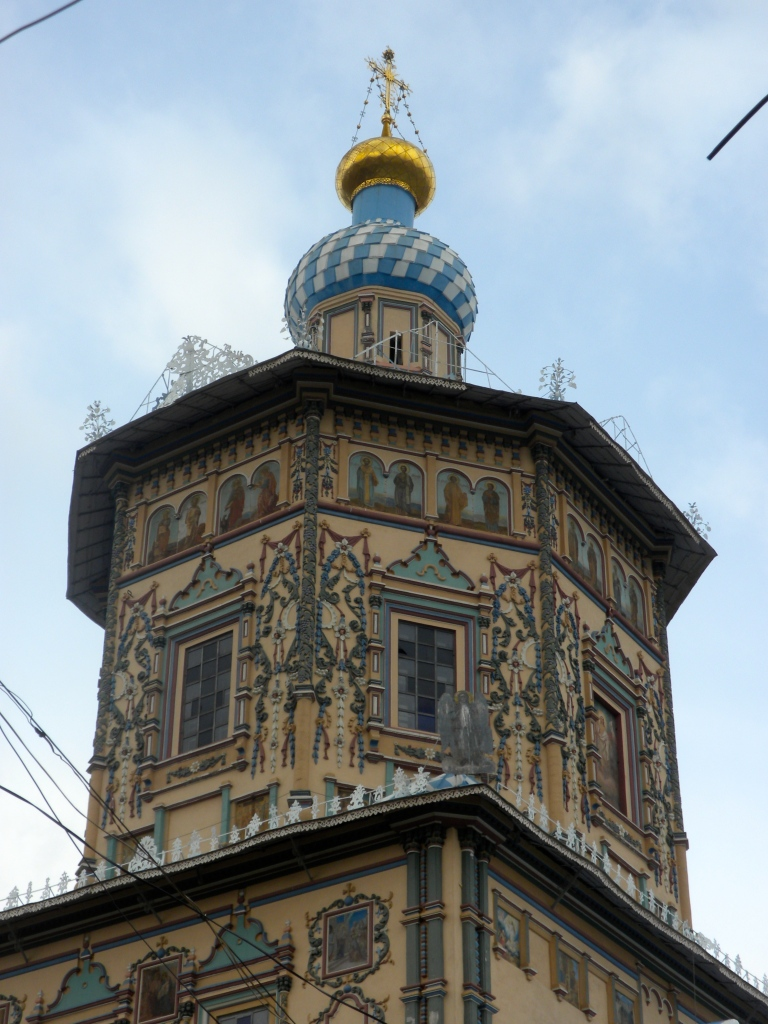 A decorated church in Kazan