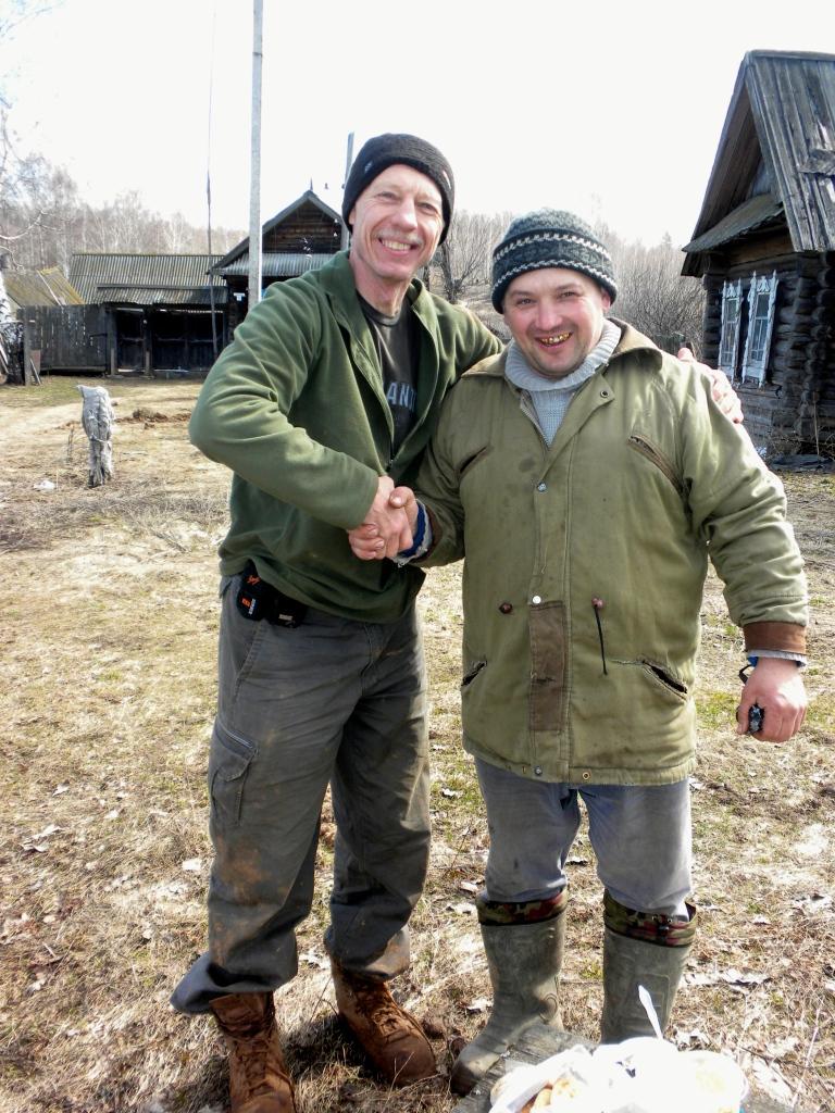With Nikolai, my new best friend!