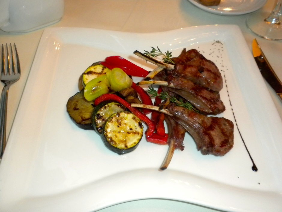 My lamb chops with sautéed vegetables