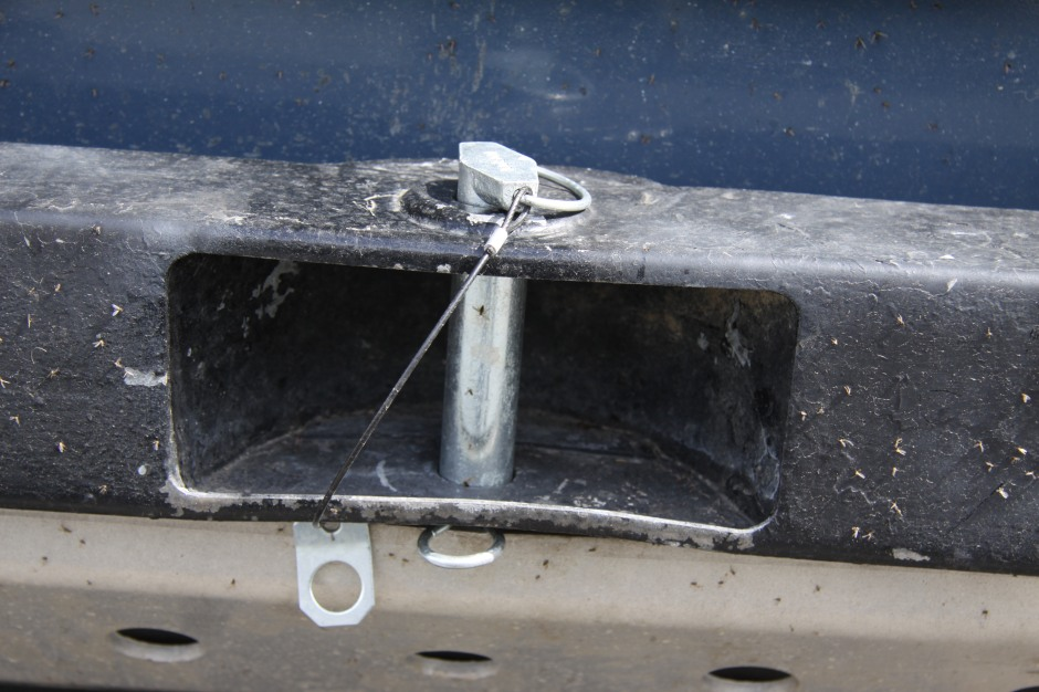 Close-up of recovery point on front bumper