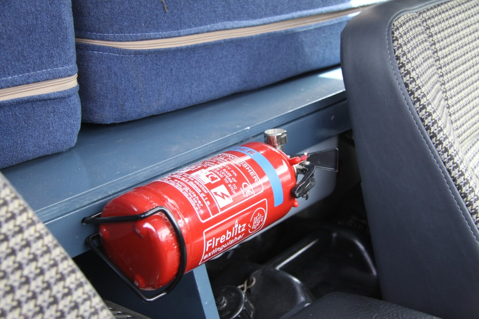 Location found to secure the fire extinguisher