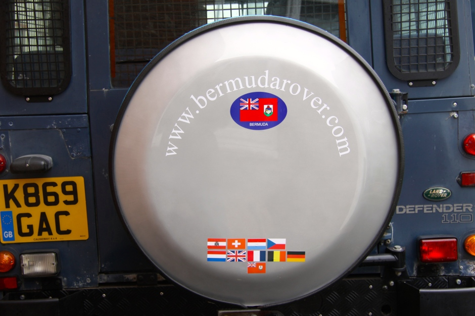 Customised spare wheel cover.
