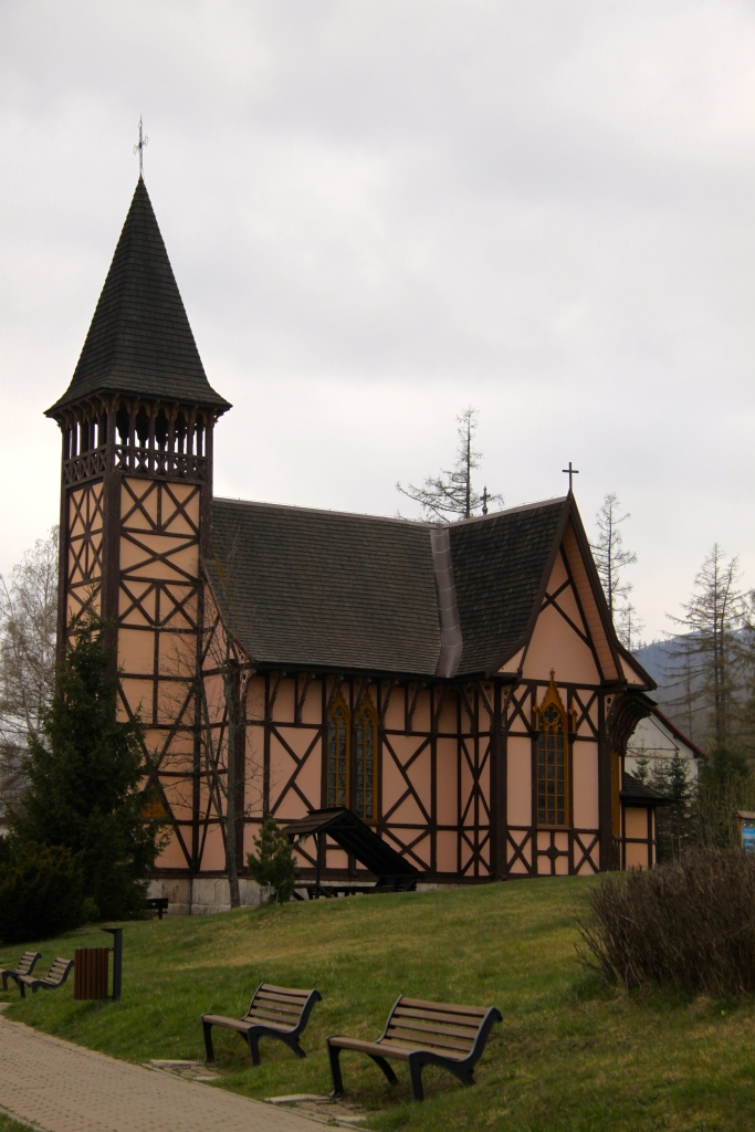 Timber-framed church