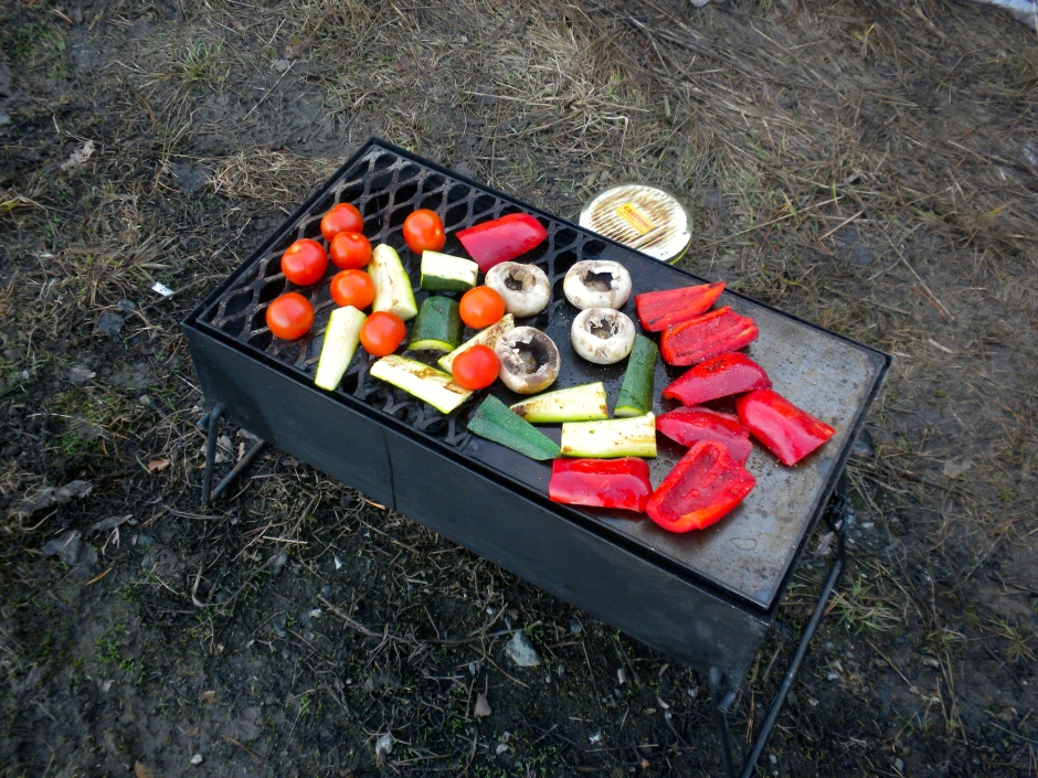 Grilled veggies for dinner