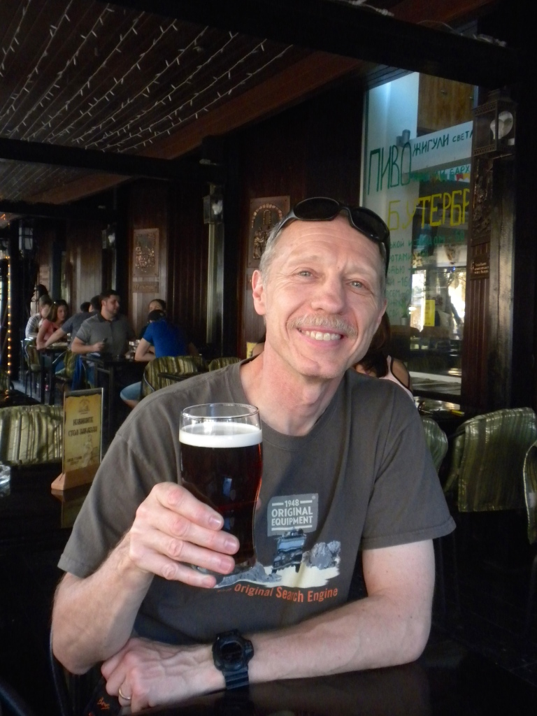 A pint of draught Kilkenny ale in an Irish pub in Novosibirsk