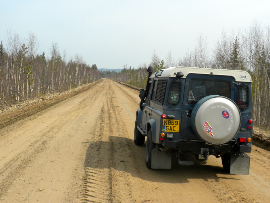 Driving the sandy road south, from Chunskiv