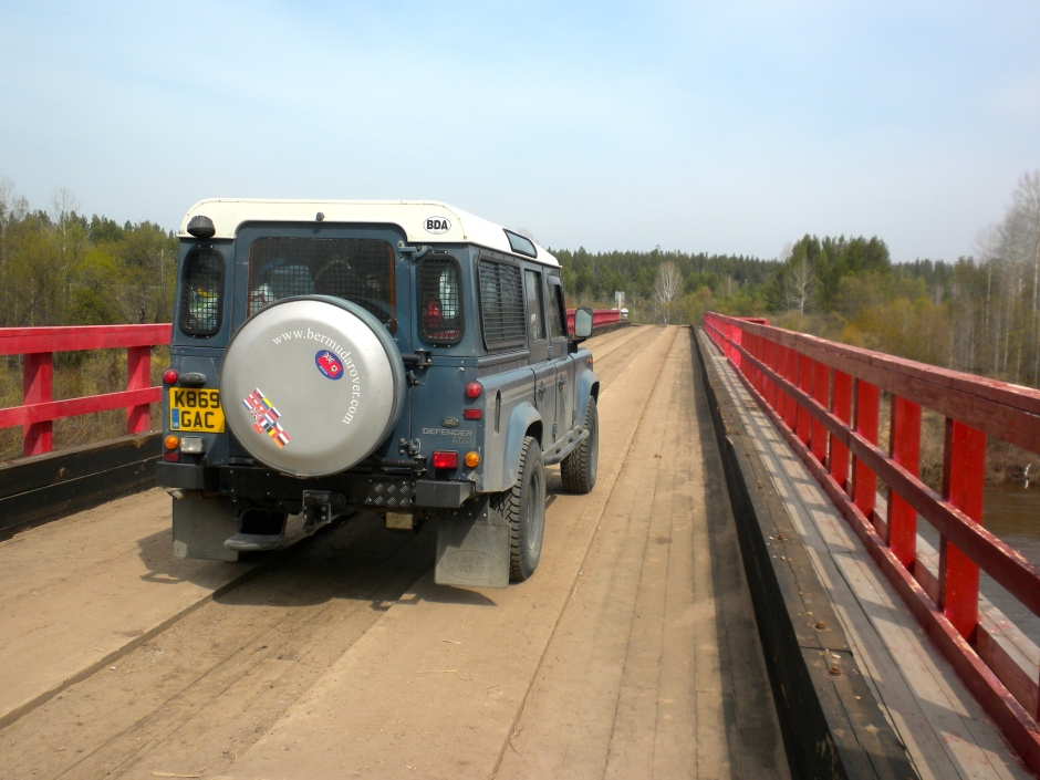 Crossing a sturdy bridge on the BAM