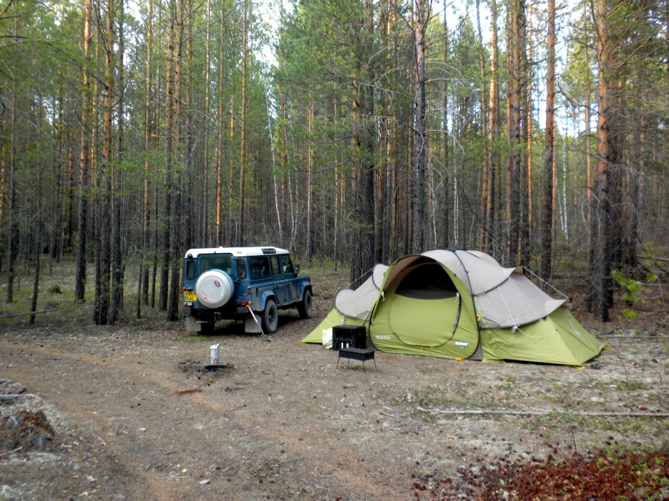 After a long day, we found another spot in the woods to camp