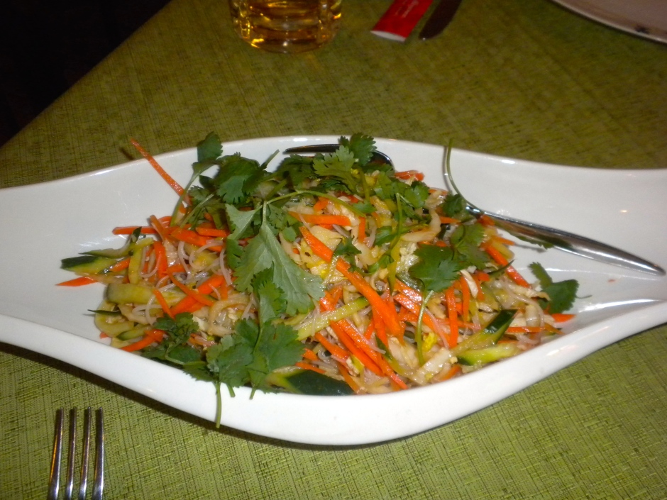 My salad in the Chinese restaurant