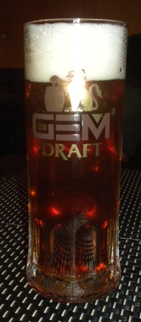 Half a litre of Gem Draft