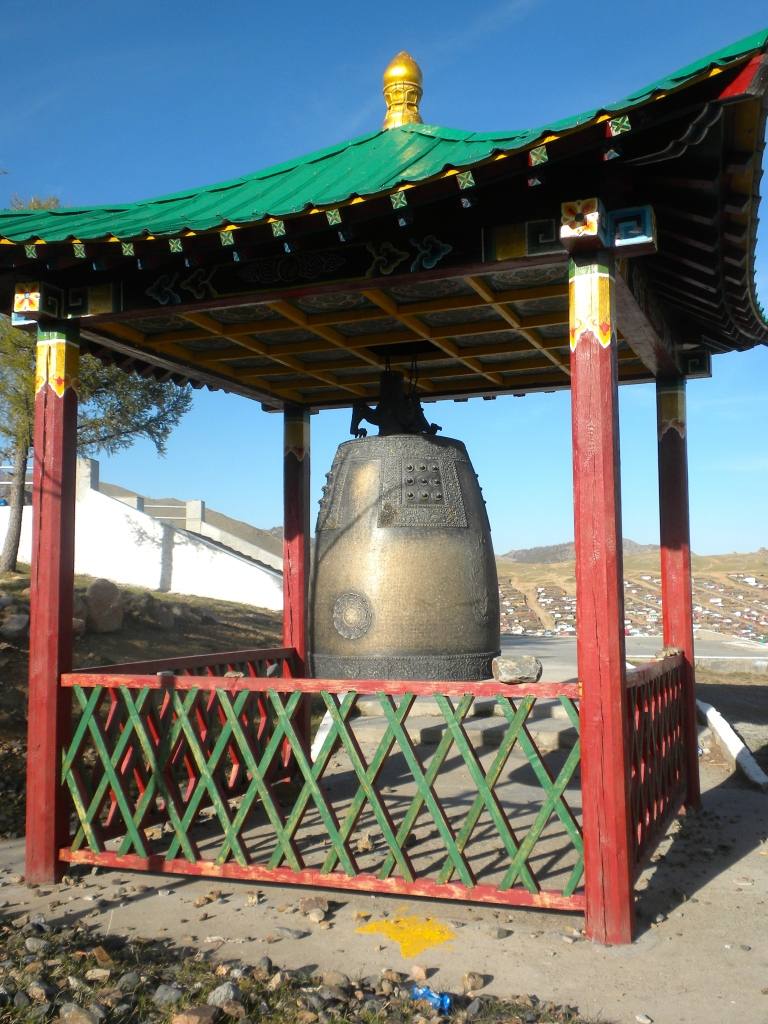 Large bell next to the temple