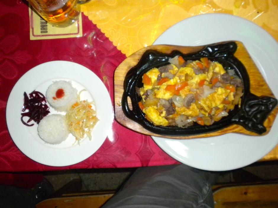 My random-choice (mutton) dinner