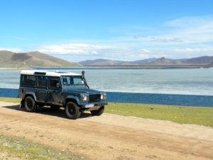 Defender at Tsagaan Nuur