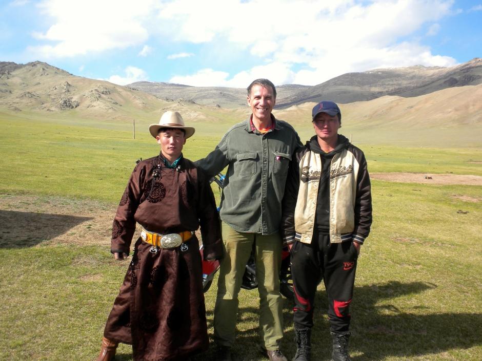 Mongolian cowboy visitor
