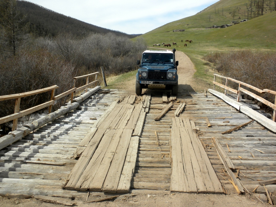 One of the small bridges we crossed