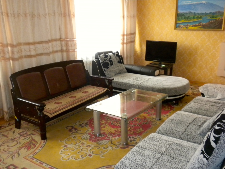 Then living room of our suite in Khovd